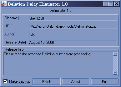 Deletion Delay Eliminator